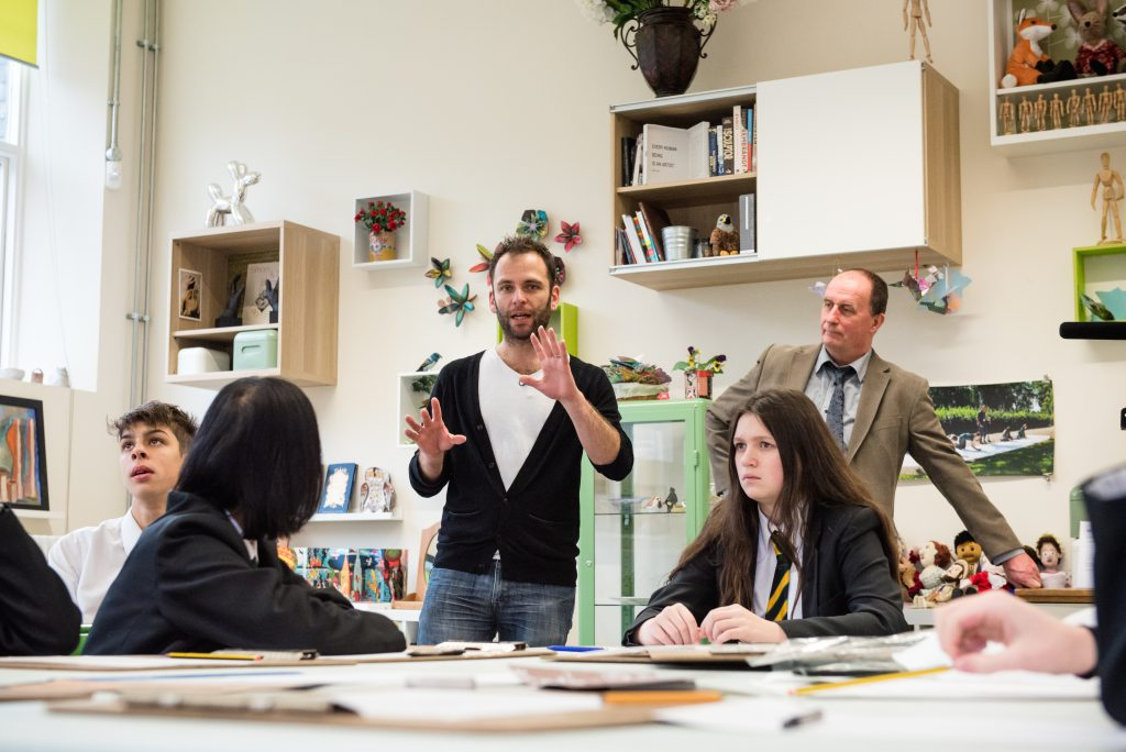 Exploring the artwork in the classroom with poet Antony Dunn...