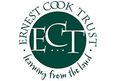 Ernest Cook Trust logo. Learning from the land